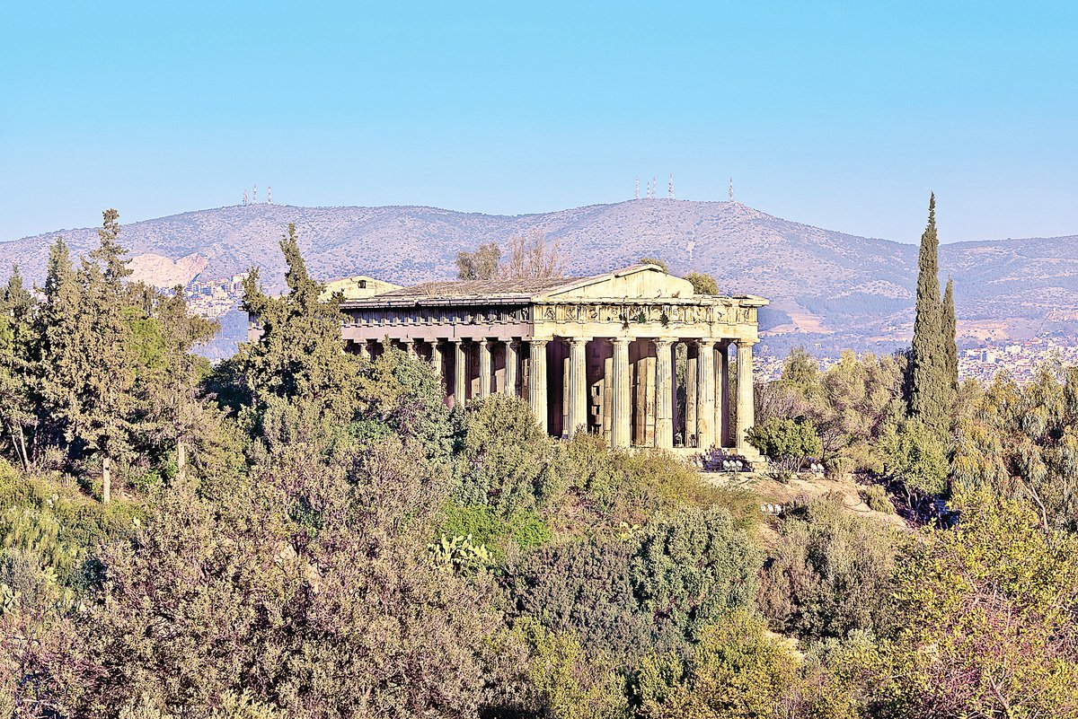 雅典的建築Temple of Hephaestus。(Fotolia)