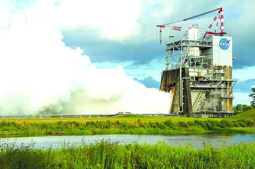 美國太空總署的RS-25發動機試驗場。(NASA)