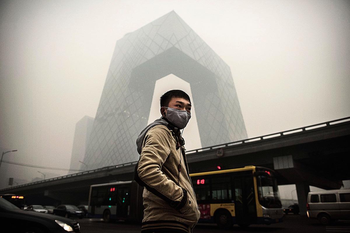 北京空氣污染嚴重。(Getty Images)