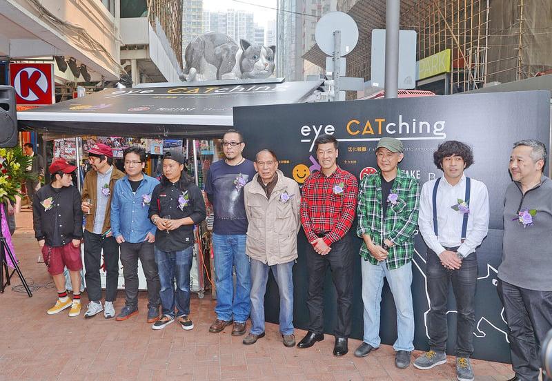 紙媒業衰落,作為香港街頭文化之一的報檔也逐漸式微。有團體邀請藝術家設計不同「吉祥物」活化報檔。(宋祥龍/大紀元)