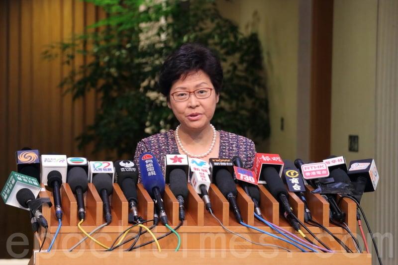 林鄭透露,已要求新聞處處長研究機制開放網媒採訪,亦親自與記協討論過這個議題。