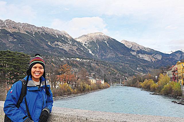 林詠涵在奧地利。(林詠涵)