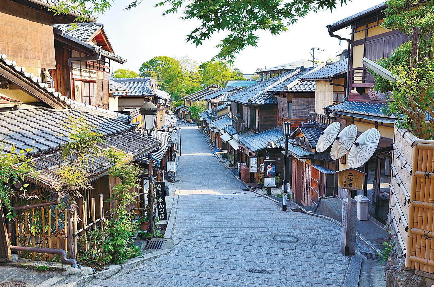 富有傳統味道的京都街道。(PIXTA)