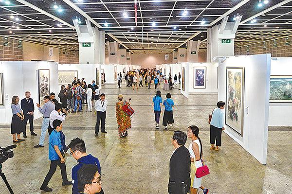 【圖片新聞】全球水墨畫大展 今起會展舉行