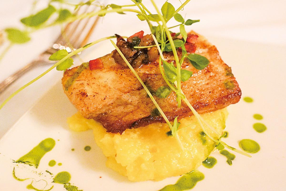 La Strada意大利餐廳的香煎鱈魚。(李旭生/大紀元)