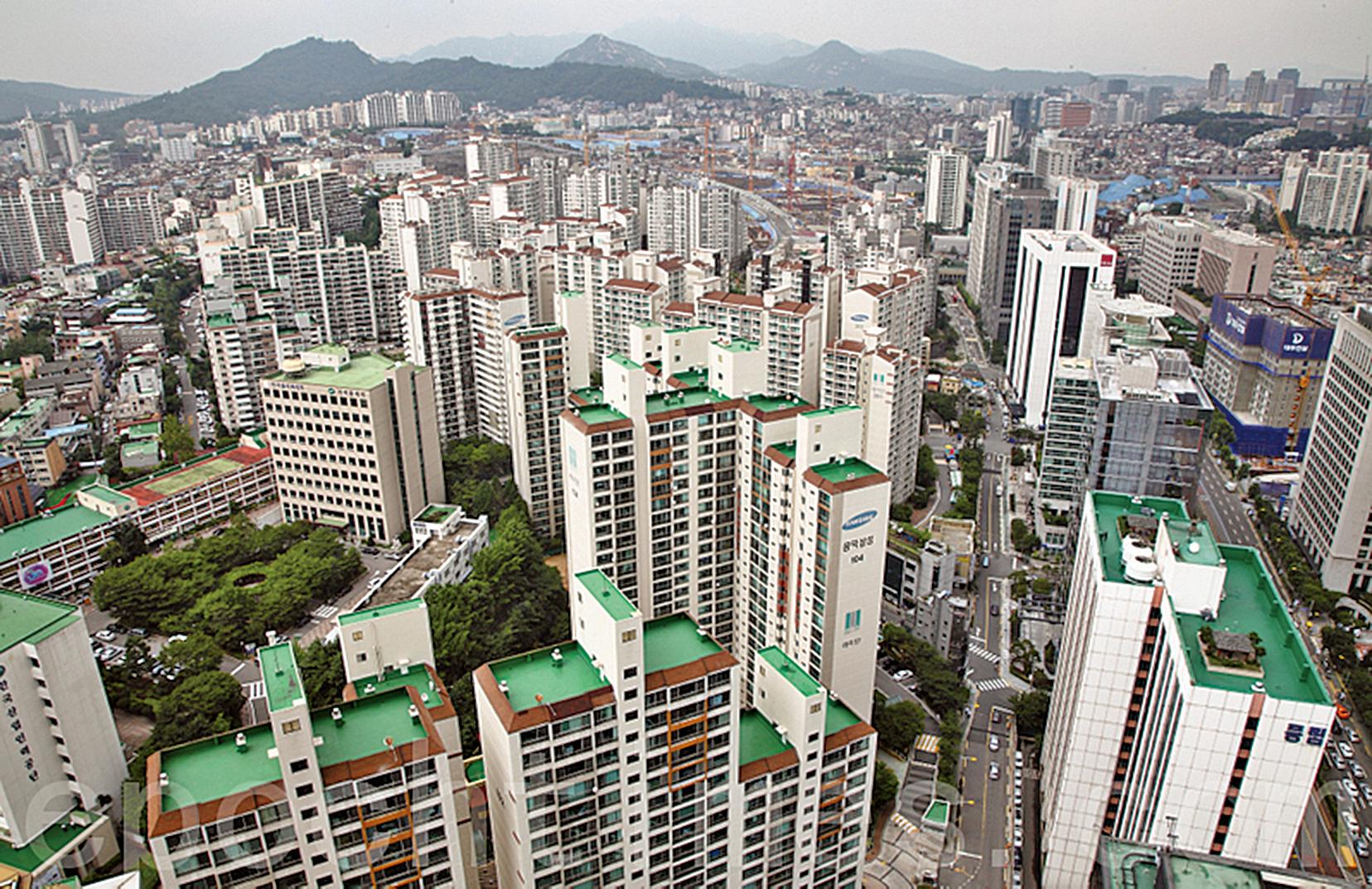 首爾的公寓住宅。(大紀元資料圖片)