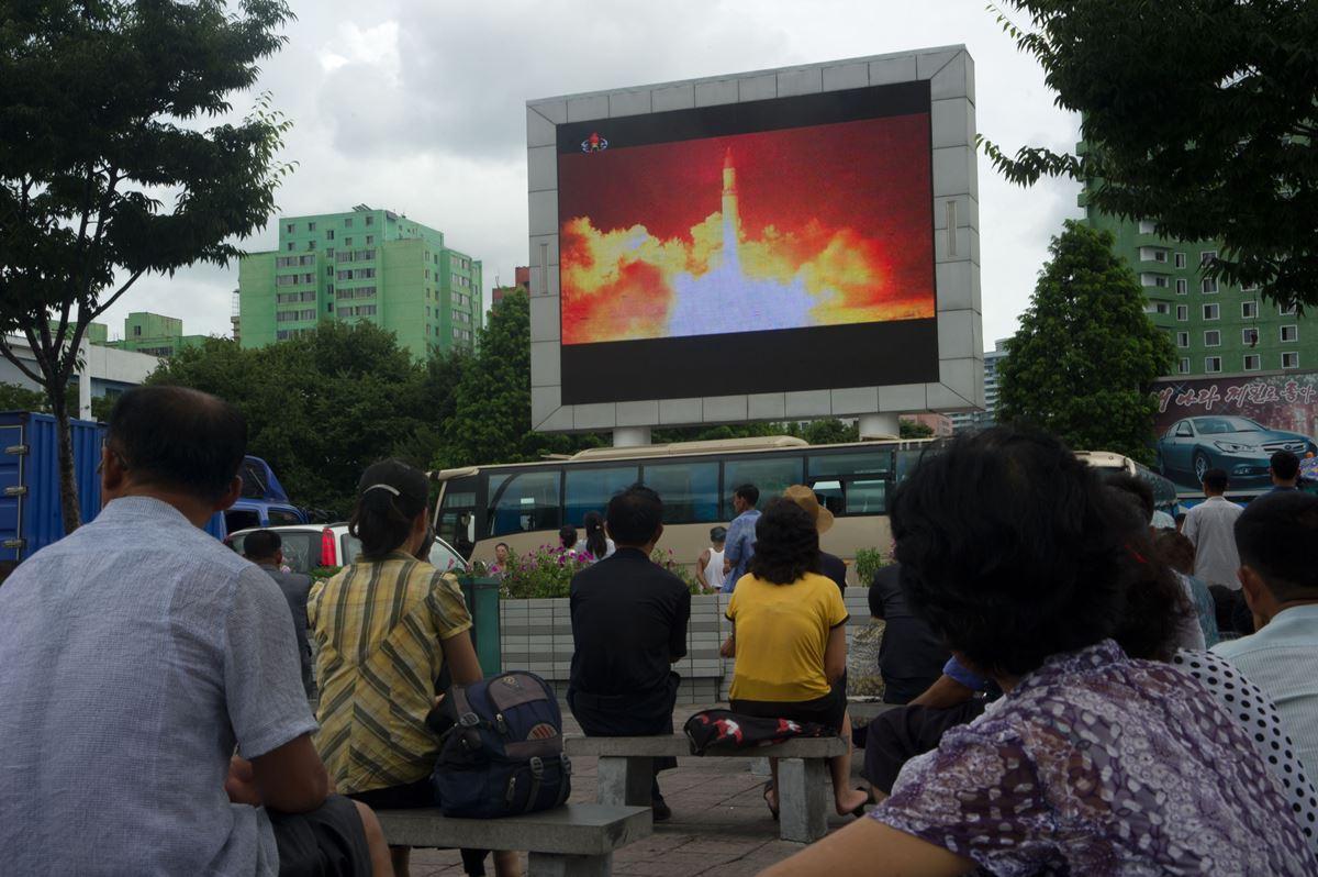聯合國安理會預定在星期六(8月5日)投票表決擴大制裁北韓決議,據了解通過的可能性極大。一旦通過,新制裁方案將削減北韓年出口金額(30億美元)至少三分之一。(KIM WON-JIN/AFP/Getty Images)