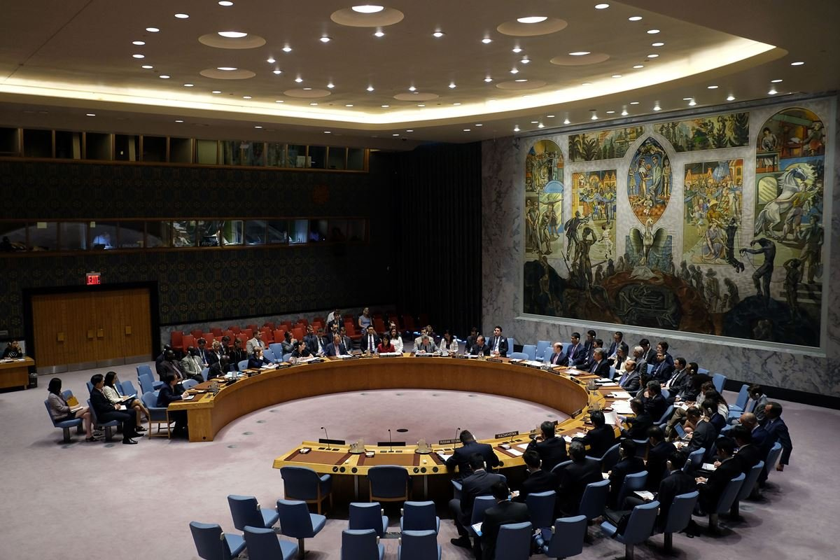 8月5日聯合國安理會曾一致通過擴大制裁北韓決議,削減北韓年出口金額(30億美元)至少三分之一。(JEWEL SAMAD/AFP/Getty Images)