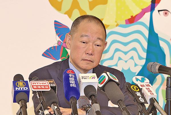 利福國際主席劉鑾鴻表示,未來啟德項目發展將參考銅鑼灣SOGO模式,90%樓面將用作零售用途,餘下為寫字樓。(余鋼/大紀元)