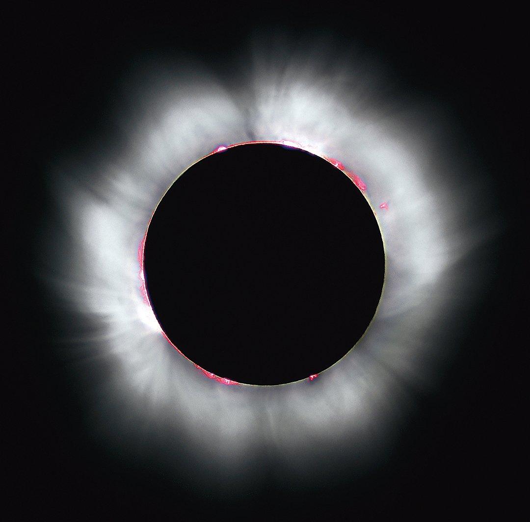 日全食(也稱為全日蝕、日全蝕、Total Solar Eclipse)。(維基百科)