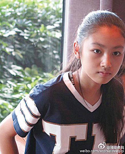 任達華讚12歲女兒任晴佳孝順。(琦琦微博圖片)