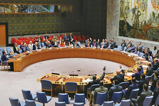 聯合國安理會8月5日通過了加強制裁朝鮮的決議,中國及俄羅斯都投下贊成票。(AFP)
