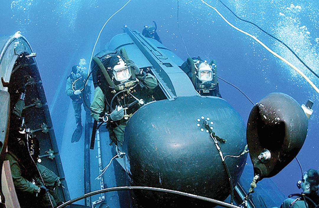 真實的海豹突擊隊水下運載器。(維基百科/美國海軍)