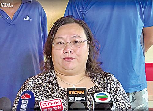 興德校長陳章萍據報被教育局發警告信,要求下周一交代違規問題。(興德學校網頁、電視截圖)