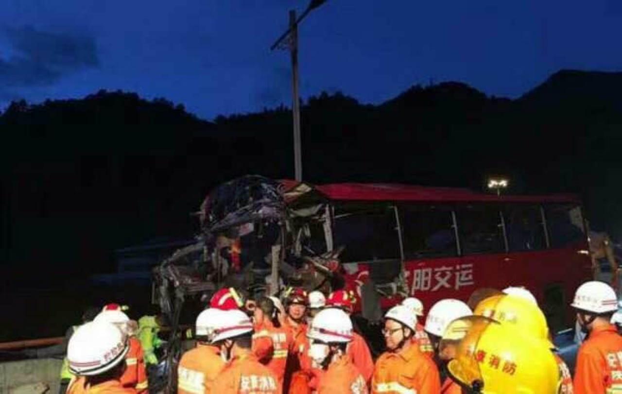 8月10日晚上11時左右,秦嶺隧道發生一宗嚴重車禍,造成至少36人死亡13人受傷。(網絡圖片)