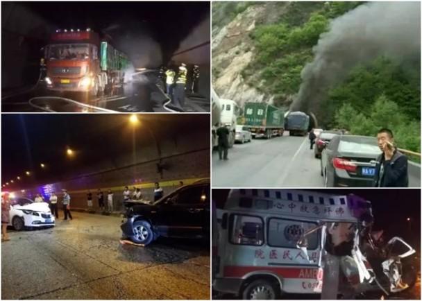 西漢高速公路不時發生交通意外,當中不少是在秦嶺隧道群內發生。(網絡圖片)