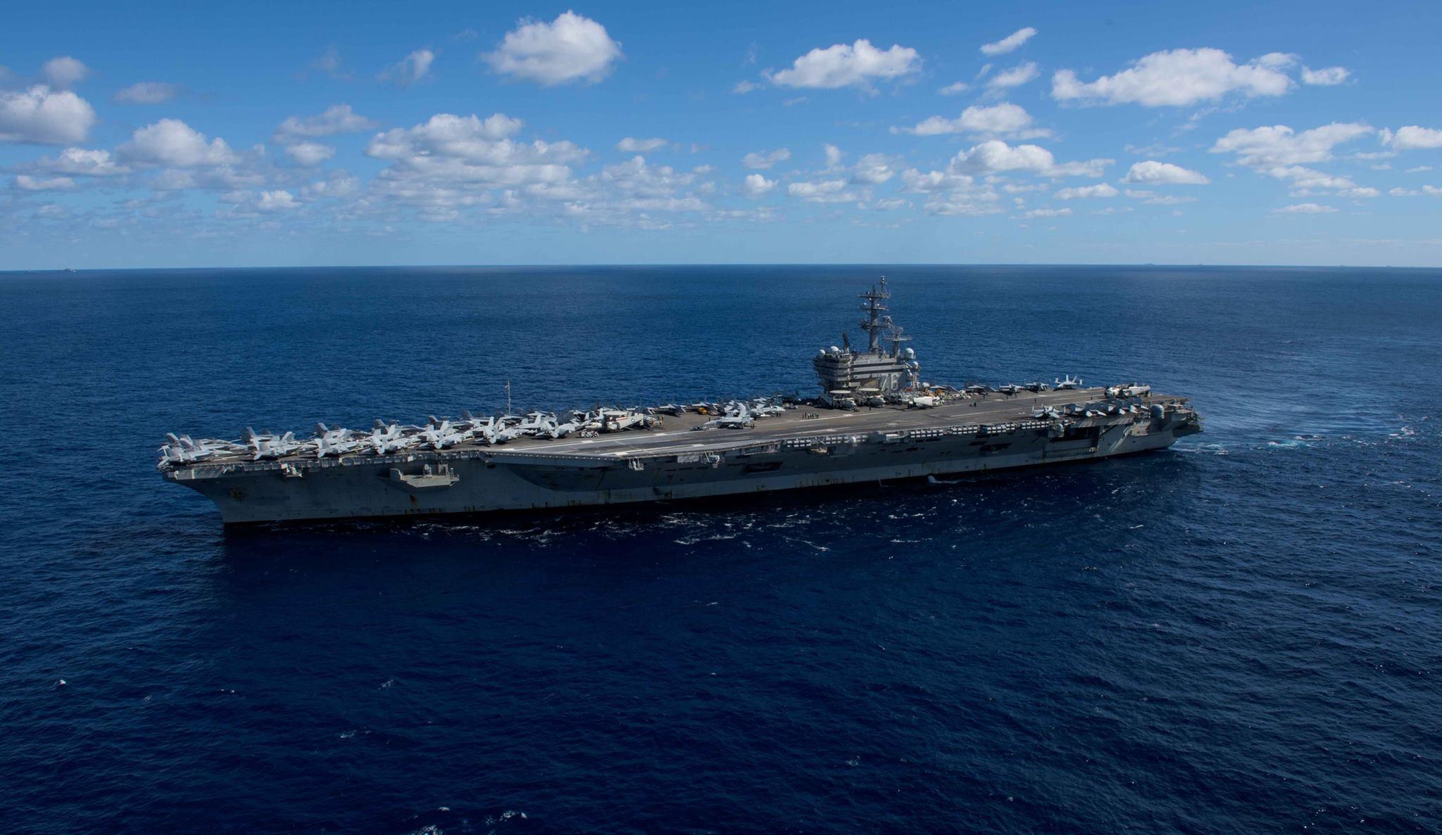 美利堅號核動力航母。(Facebook/USS CVN 76)