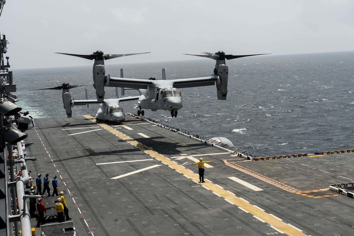 MV-22B「魚鷹」直升運輸機(MV-22B Osprey)。(美國海軍)