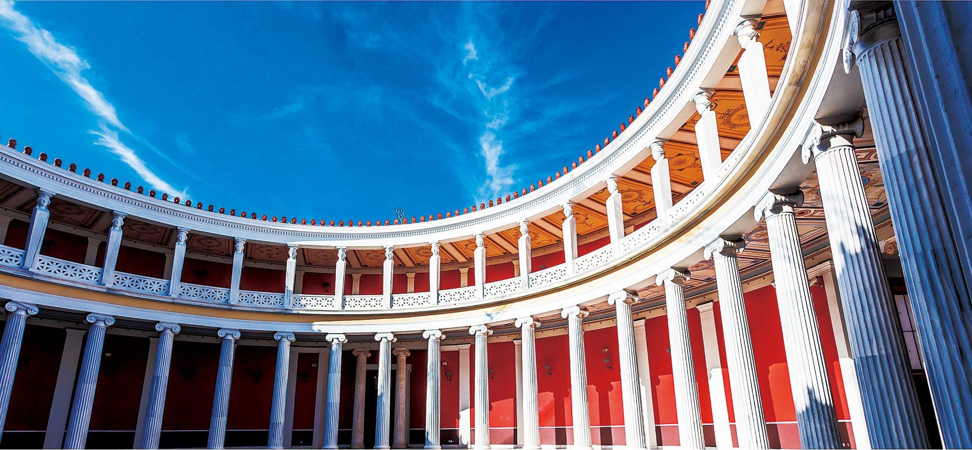 希臘雅典Zappeion內部圓形天井。(Fotolia)