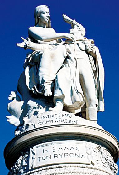 拜倫大理石雕像。(網絡圖片)