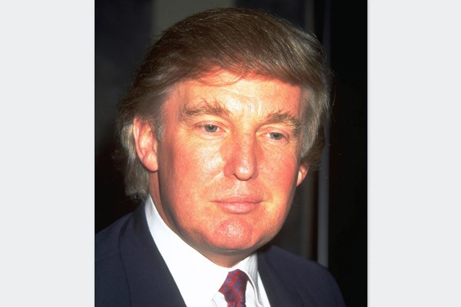 特朗普上世紀90年代檔案照。(Getty Images)