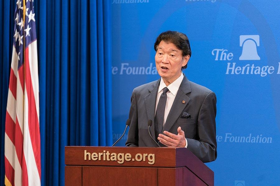 前台灣駐美代表的沈呂巡希望特朗普政府能夠實行更務實的措施幫助台灣。(石青雲/大紀元)