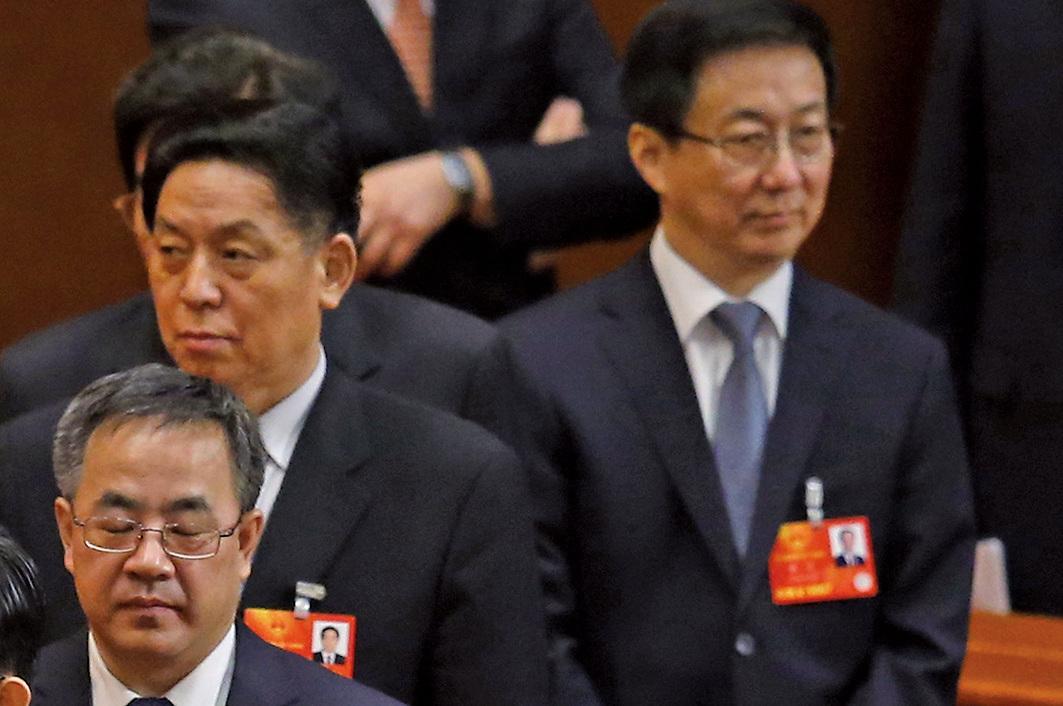 █中共廣東省委書記胡春華(左一)和上海市委書記韓正(右一),其最近的活動行程顯示,兩人可能未去北戴河參加會議。(Getty Images)