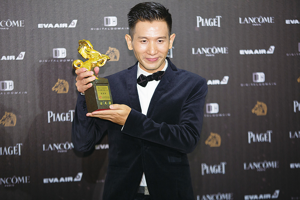 2016年趙德胤獲得台灣金馬獎「傑出電影工作者」獎。(大紀元資料室)