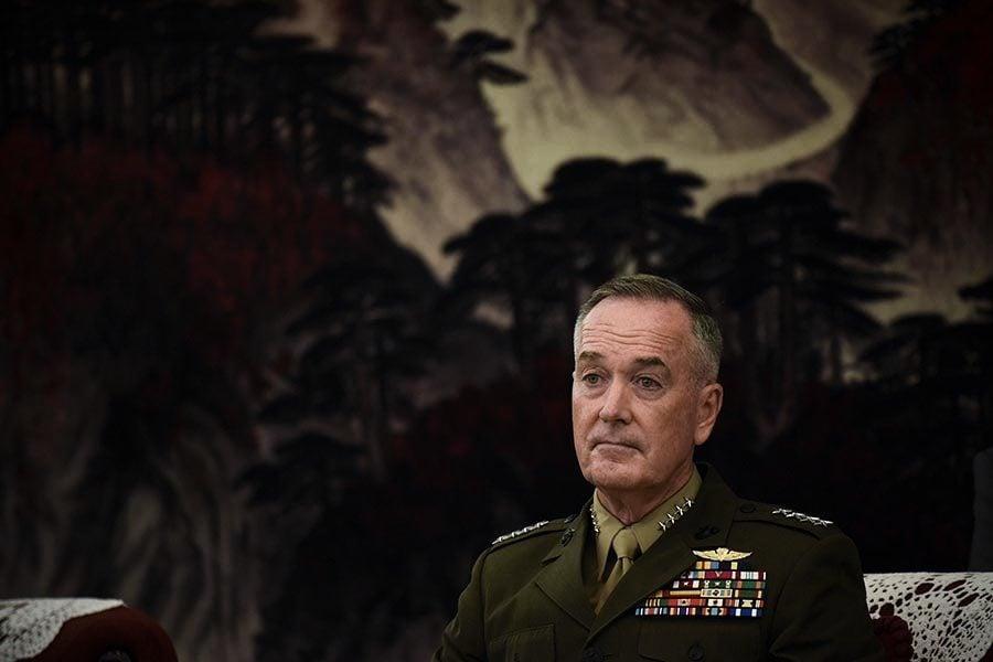 美軍參聯會主席鄧福德訪華獲高規格會見