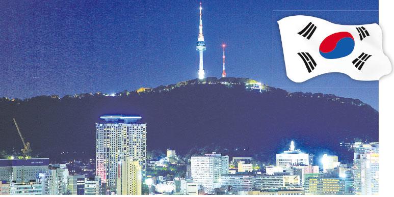 圖為首爾南山塔夜景。(全景林/大紀元)