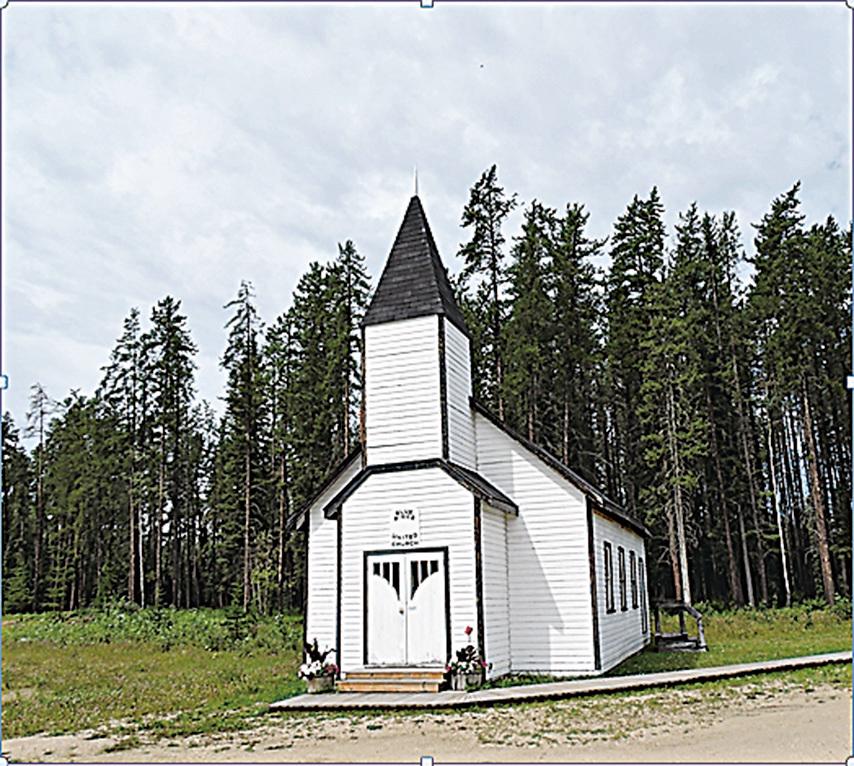 搬到停車場供人參觀的小教堂。