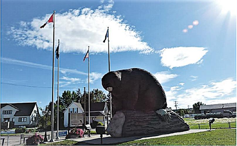 世界第一大河狸塑像。