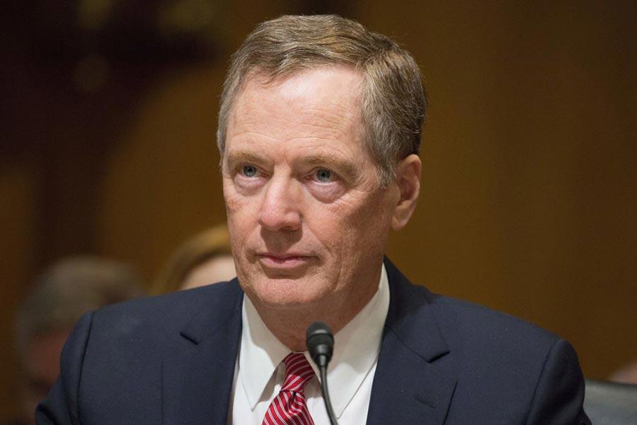 8月18日,USTR貿易代表萊特希澤(Robert Lighthizer)宣佈開始對中共進行貿易調查。(TASOS KATOPODIS/AFP/Getty Images)