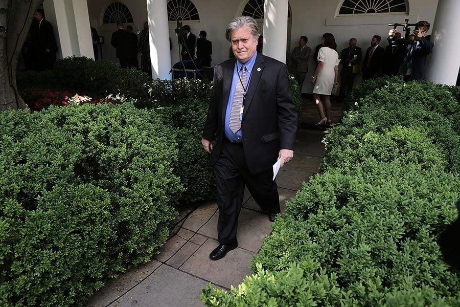 離開白宮回媒體 班農誓言續為特朗普而戰