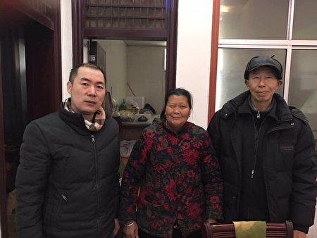 8月18日,江天勇的爸爸、媽媽被轄區國保帶走,目前已失聯。(江天勇的妻子金變玲推特)