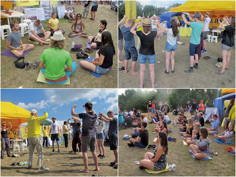 波蘭伍德斯托克音樂藝術節(Przystanek Woodstock)參加者大多來自波蘭和歐洲的年輕人及專業藝術團體,人數每年多達二、三十萬。8月3日至5日,歐洲部份法輪功學員在音樂節上設立法輪功真相展位,不少人現場學煉法輪功,有的留下地址要求訂購《轉法輪》。