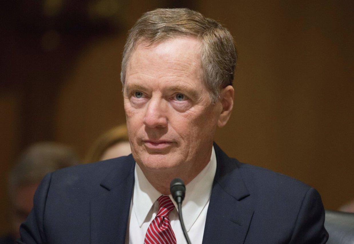 8月18日,USTR貿易代表萊特希澤(Robert Lighthizer)宣佈開始對中共進行貿易調查。(AFP)