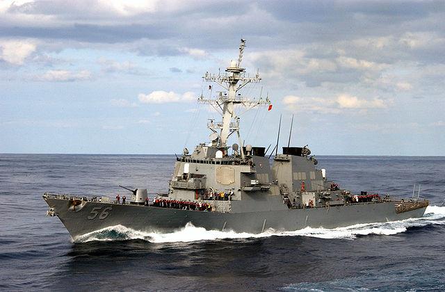 美軍驅逐艦星洲水域撞商船 十失蹤五傷