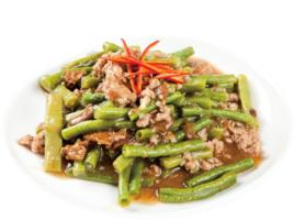 【梁廚美食】冬菜肉碎燜白豆角