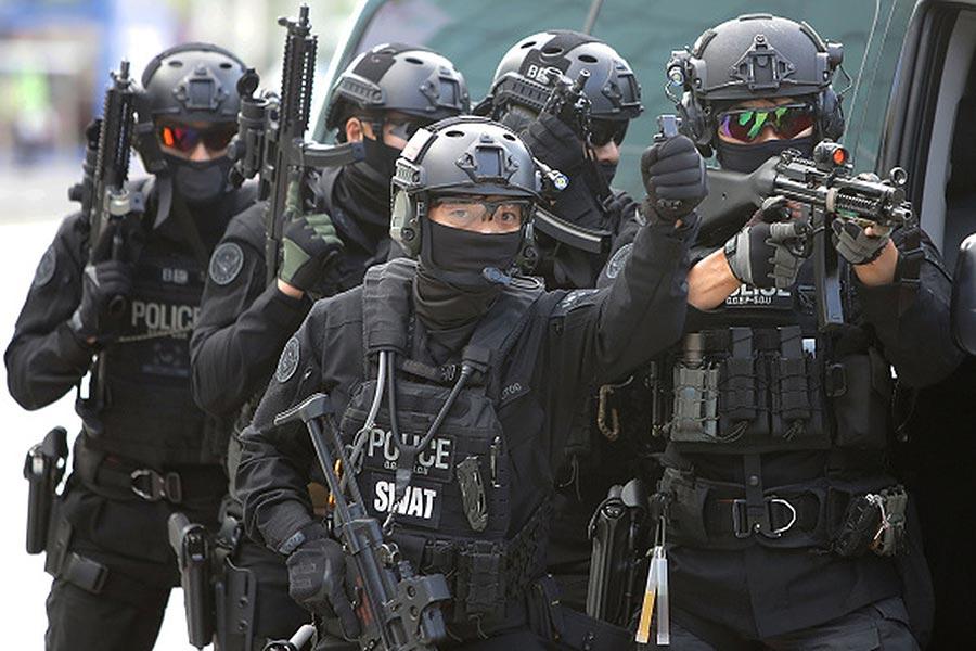從本周一(8月21日)開始,美國和南韓舉行為期10天的年度聯合軍事演習。圖為2017年4月韓美軍演的畫面。(Chung Sung-Jun/Getty Images)