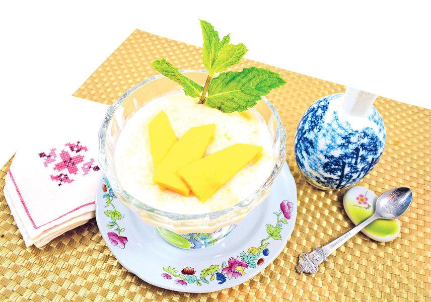 【梁廚美食】凍芒果椰西米布甸(梁廚美食,芒果,椰汁,西米,布甸)