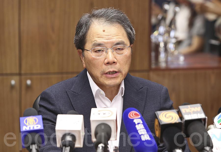 上市公司商會主席梁伯韜表示,相信「同股不同權」此類公司是未來經濟主要增長動力。(余鋼/大紀元)