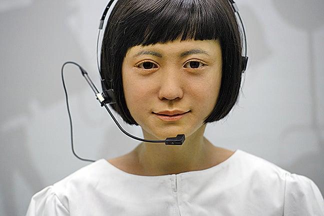 今年2月7日,日本製造的一個智能機械人在倫敦科學博物館展出。(Getty Images)