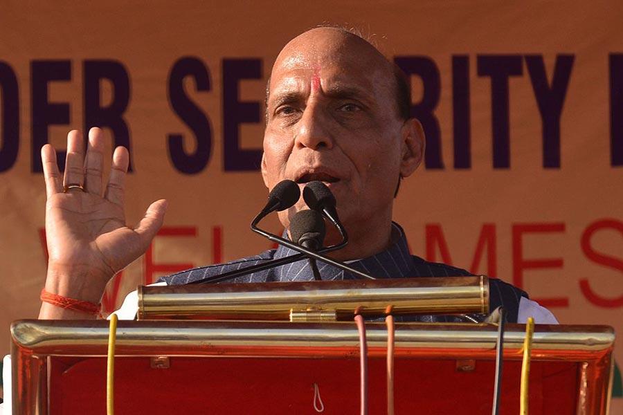 印度內政部長拉傑納特・辛格(Rajnath Singh)星期一表示,洞朗地區的對峙不久即將得到解決。(NARINDER NANU/AFP/Getty Images)