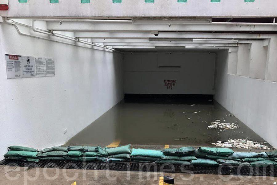 杏花邨停車場水浸 數十車輛恐報廢