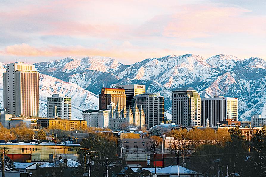 鹽湖城美麗的城市風景。(網絡圖片)
