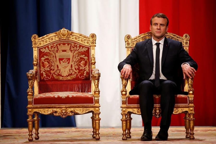 法國人對馬克龍的百日政績感到失望。比前總統奧朗德就職百日的滿意度還低10%。(CHARLES PLATIAU/AFP/Getty Images)