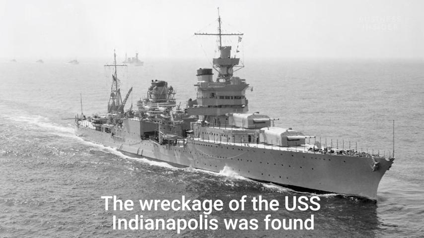 二戰時期,「印第安納波利斯號」重型巡洋艦(USS Indianapolis)遭日本海軍「伊-58號」潛水艇發射的魚雷襲擊後沉沒。72年後,這艘軍艦在海底被發現。(視像擷圖)