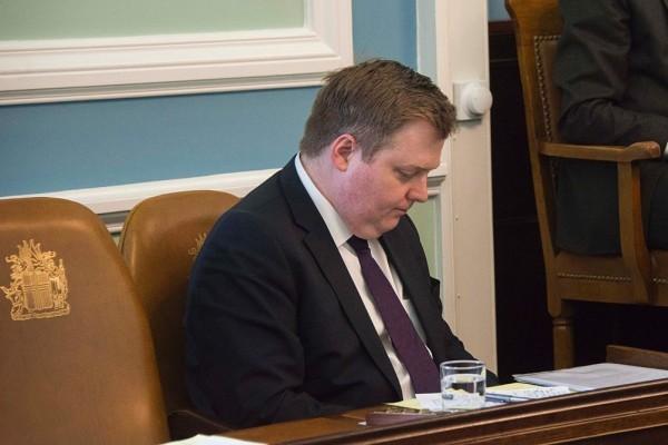因「巴拿馬文件」而陷入政治危機的冰島總理Sigmundur Gunnlaugsson被迫辭職。(HALLDOR KOLBEINS/AFP/Getty Images)