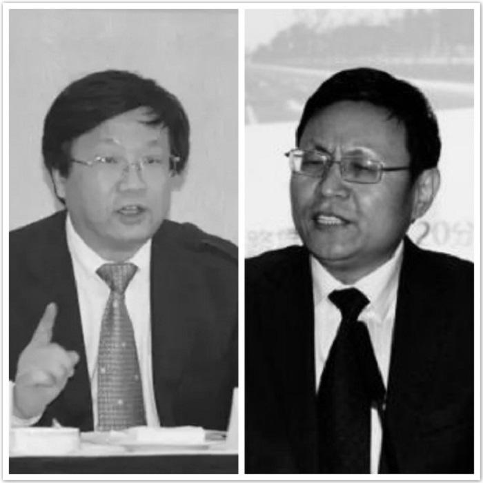 8月23日,西安旅遊集團公司原董事長李大有(左)、西鹹新區黨工委原委員李益民(右)被「雙開」並移送司法。(網絡圖片)
